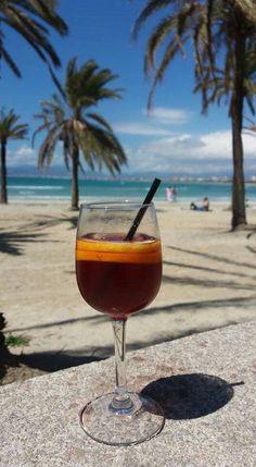 Sangria at the beach of El Arenal Mallorca 04.21.16