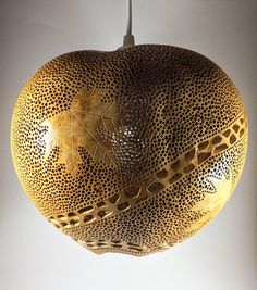 Sycamore leaves Gourd lamp