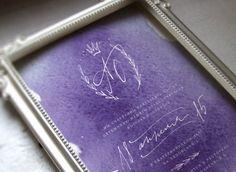 lavender invitation / Изысканное приглашение с авторской каллиграфией. Доступно для заказа!  По всем вопросам пишите на pollylovegraph@yandex.ru