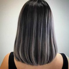 of Black Hair 50 shades of grey hair colours by Singaporean hairstylists 50 shades of grey hair colours by Singaporean hairstylists Ash Gray Hair Color, Black And Grey Hair, Grey Ombre Hair, Cool Hair Color, Lilac Hair, Grey Hair For Dark Skin, Pastel Hair, Green Hair, Blue Hair