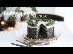 Maková torta s bielou čokoládou a mascarpone | videorecept | foodblog | Red velvet cooking and baking Cake Recept, Poppy Seed Cake, Cake Photography, Red Velvet, Food Videos, Panna Cotta, Poppies, Seeds, Make It Yourself