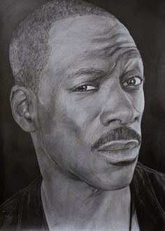 """Name: #EddieMurphy #Actor, #Singer  Features  - Graphite pencils on paper 180g / m² - Signed by the artist Measurements  - 43 x 61 cm / 17"""" W x 24"""" H Inch  Video on YouTube↓ https://youtu.be/FjIKej-thTw  #Art #Drawing #CreationByKK"""