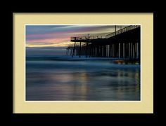 Pismo Beach Framed Print featuring the photograph Peaceful Sunset by Marnie Patchett