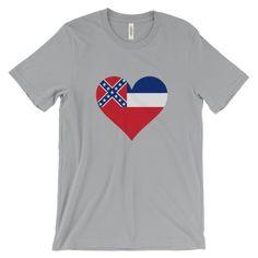 Love Mississippi Heart State Flag