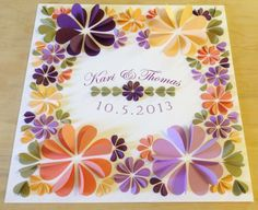 """Wedding Banner 3/D Guest Book 20""""x20"""" - Personalized Signature Guestbook Art Print - Choose your Colors"""