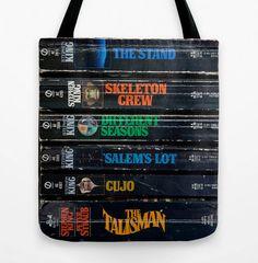 Stephen King Tote Bag Grocery Tote Reusable Shopping Bag Book