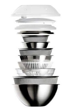 Get every bowl, strainer—even a salad spinner!—in one easy-to-store stack. Cherry Buffet All-Around Bowls at Rakuten