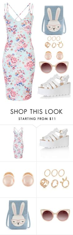 """""""Verão 09"""" by bluishcanti ❤ liked on Polyvore featuring Glamorous, Kenneth Jay Lane and WithChic"""