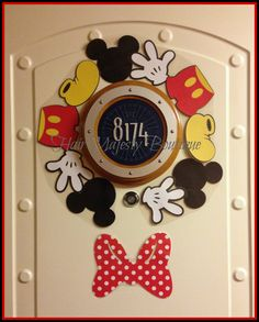 Mickey Mouse Body Part Wreath Magnet for Cruise Door