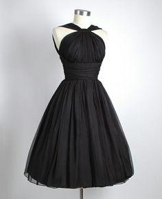 Black-Chiffon-Party-Dress