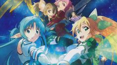 Asuna Leafa Yui Silica Lisbeth Alfheim Online Anime Girls Sword Art Online 2 2880x1800