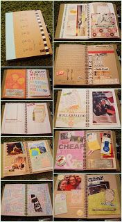 SMASHbooks to journal and scrapbook the year. // This makes me think: how about keeping one for each student? They can write down what happens during the semester, write letters/notes into their friends' books. Neat for seniors. Creating memories.
