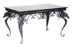 Gothic Dragon Furniture   Dragon Coffee Table with Dragon Head on All 4 Corners