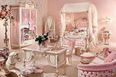 Girly Pink Bedroom