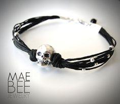 Sterling #Skull #Bracelet from JewelryByMaeBee on #Etsy.