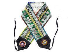 Belly Dance Belt, Tribal Belly Dance, Gypsy Style, Boho Style, Denim Bag Patterns, Coin Belt, Afghan Clothes, Tribal Fusion, Boho Fashion