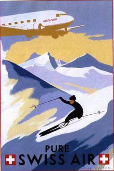 Pure Swis Air Vintage Poster
