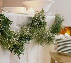 Wedding Garlands: Top 10 Ways to use Greenery Garlands in your wedding on http://www.bellaweddingflowers.com/blog