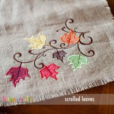 Scrolled Leaves