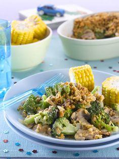 Broccoli and mushroom crunch