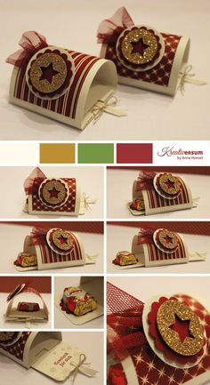 Pull one end and message and chocolate pops out. StampingUp inspired project LINK to FREE tutorial Candy Cards, Candy Gifts, Stampin Up Weihnachten, Deco Table Noel, Paper Gift Box, Treat Holder, Dremel, Little Gifts, Holidays And Events