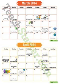 Calendar dates in Sydney
