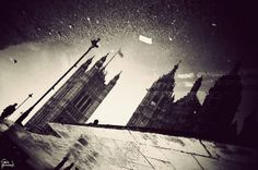 The Houses of Parliament in a puddle by Gavin Hammond, via Flickr
