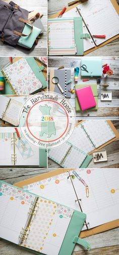 The Free 2018 Planner is here! over 200 files of customize-able goodness in amazing colorful fun to plan your year. {The Handmade Home}