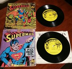 Vintage 1975 Superman Records.  $10.00 each + shipping
