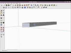 How to Make a Simple Sword Blade in Google Sketchup(For Beginners) - YouTube