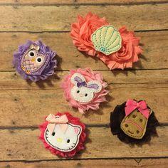Felties adorned shabby flower hair clips hair bows baby girl #bowtifulblessings