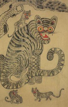 Le Kraken, Traditional Japanese Art, Art Premier, Tibetan Art, Tiger Art, Korean Art, Japan Art, Illustrations And Posters, Art Plastique
