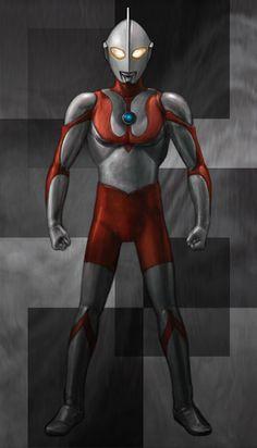 初代ウルトラマンを描いてみました。人間のようで人間でなく、メカっぽくも有りつつセクシーで、戦闘力と知性を同時に感じさせる抜群のデザイン。古今東西探してみてもこれ程美しく優れたデザインの人型ヒーローはいないんじゃないでしょうか。合掌して拝みたいくらいです。