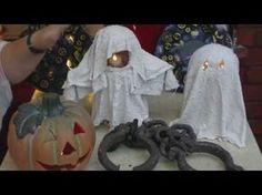 Beton giessen - DIY - Mini Wächter / Coole Deko Geister für Halloween - YouTube