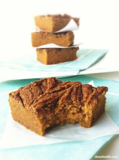 snickerdoodle blondies.1/2 Cup Pure Pumpkin Puree  1/2 Cup Natural Nut Butter (Almond or Peanut Butter)  1/3 Cup Honey (Agave, Maple or Stevia)  1 Egg  1/4 Cup Eggwhites  1/4 Tsp Salt  1/2 Tsp Baking Soda  1 1/2 Cup Chickpeas  1 Tsp Vanilla Extract  1 1/2 Tbsp (or more – to taste) Cinnamon