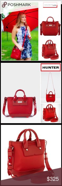 6fddc9f31b HUNTER ORIGINAL RED RUBBER MINI CROSSBODY TOTE BAG Boutique