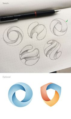Designer Shows What He Considers To Be Good Design By Creating Logos With Hidden Symbols Sketch Design, Icon Design, Brand Design, Web Design, Curve Design, Blog Logo, Vector Logos, Vectors, Inspiration Logo Design