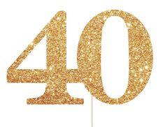 40 Cake Topper - 40th Birthday Decorations