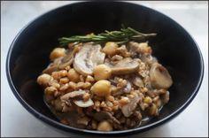 non solo pasticci: Zuppa di ceci, funghi e farro