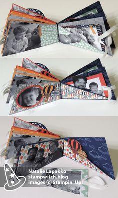 Pages Twisted Mini Album par Natalie Lapakko avec Lift Me Up timbres et emmenèrent DSP de Stampin' Up!