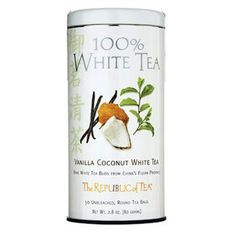 Vanilla Coconut 100% White Tea Bags / 50 Tea Bags for $15.00...awesome cup of tea...hot or cold...all day long! :)
