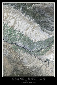 The Grand Valley area is depicted here using beautifully detailed LANDSAT 8 imagery from June of 2015. TerraPrints.com is America's largest producer of hand-picked, custom processed, multi-spectral LA