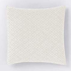 Frayed Diamond Jacquard Euro Sham, Stone White $29
