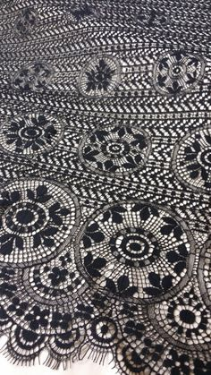 Black lace fabric by the yard, France Lace, Alencon Lace, Bridal lace, Wedding Lace, Embroidery lace, Evening dress lace, Lingerie Lace