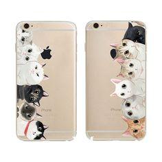 New Brand New Animal Cat Design Tpu Transparent Coque Capa Para Mobile Phone Bag Case Cover For iphone 5 5s SE 6 6s Plus 6Plus