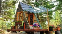 The Making Of A Tiny A-frame Cabin Built In 3 Weeks With $700