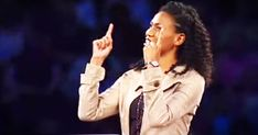 Christian speaker Priscilla Evans Shirer asked this room full of women 'Who's your daddy?' And when she explained the God who is unchanging, all loving, the ruler of rulers, and our Daddy I got chills. What she says about looking at your God in your weakest moment was just what I needed to hear. Thi