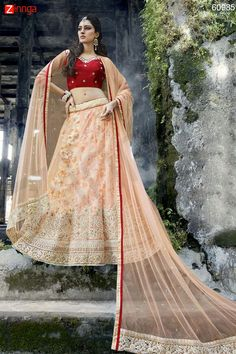 Women's Pretty A Line Lehenga Style in Pink Color. Message/call/WhatsApp at +91-9246261661 or Visit www.zinnga.com