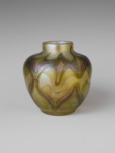 Vase designed by Louis Comfort Tiffany, Tiffany Glass and Decorating Company, New York City, NY, American, favrile glass, circa 1895