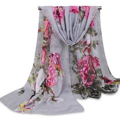 Floral Wash Painting Shawl Scarf ($3.43) ❤ liked on Polyvore featuring accessories, scarves, floral scarves, shawl scarves, floral print scarves and floral shawl